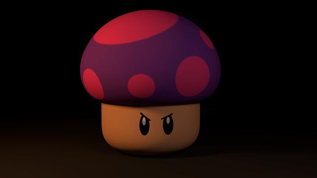 mario, mushroom, video game