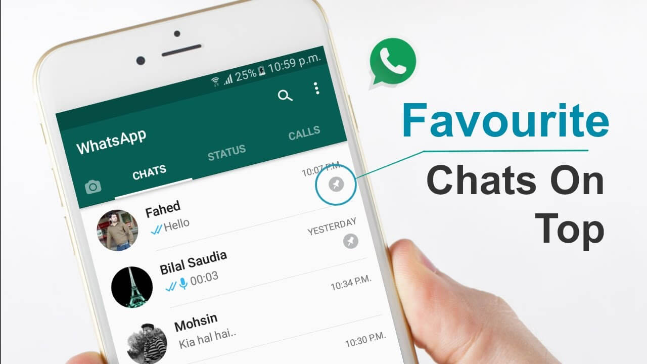 WhatsApp New Update Pin Your Favorite Chats On Top - YouTube